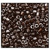 Czech 9/0 3-cuts seed bead hank 16120 (BROWN TRANSPARENT LUSTER