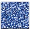Czech 9/0 3-cuts seed bead hank 38020 (LIGHT BLUE OPAQUE LUSTER