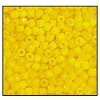 Czech 9/0 3-cuts seed bead hank 88130 (DARK YELLOW OPAQUE LUST)