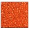 Czech 9/0 3-cuts seed bead hank 93140 (ORANGE OPAQUE)