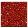 Czech 9/0 3-cuts seed bead hank 93210 (DARK RED OPAQUE)
