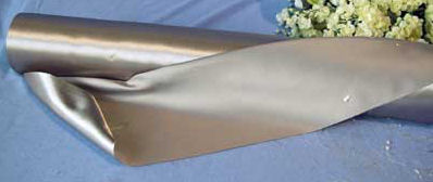 Premium Bridal Satin Fabric (per yard) silver